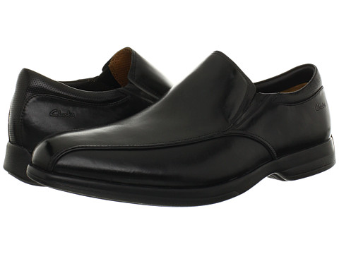 Pantofi Clarks - General Slip - Black Leather