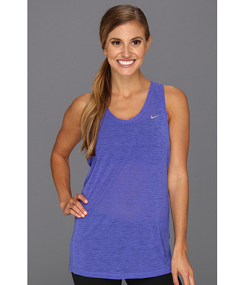 Tricouri Nike - Nike Breeze Tank - Violet Force/Metallic Red Bronze