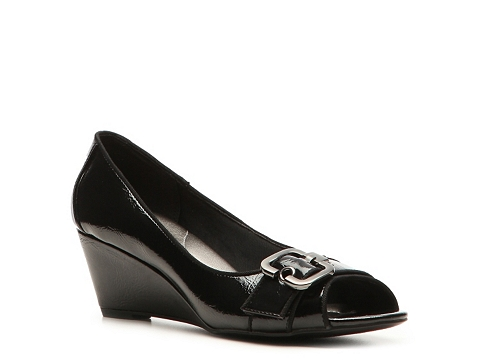 Pantofi Abella - Marina Wedge Patent Pump - Black