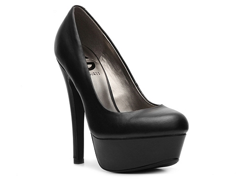 Pantofi G by GUESS - Veeta Platform Pump - Black