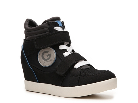 Adidasi G by GUESS - Power Wedge Sneaker - Black