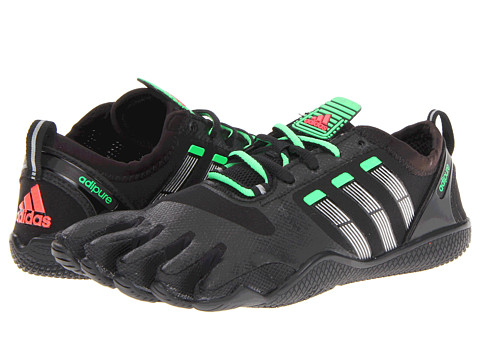Adidasi adidas - adipure Lace Trainer 1.1 - Black/Metallic Silver/Green Zest