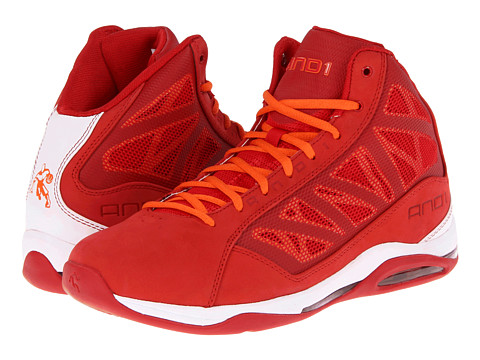 Adidasi AND1 - Entourage Mid - Varsity Red/White/Orange
