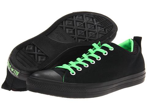 Adidasi Converse - Chuck Taylorî All Starî Dual Collar Ox - Black/Neon Green