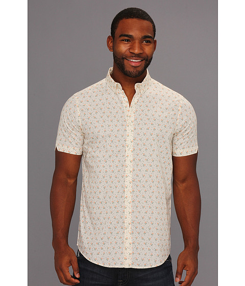 Camasi Ben Sherman - Laundered Mini Rose Print S/S Shirt - Cream