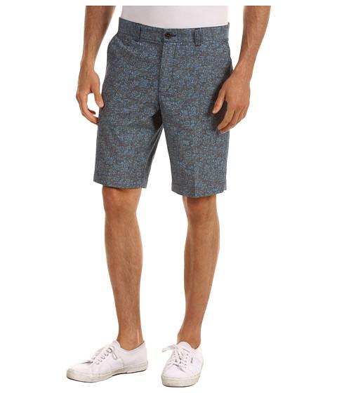 Pantaloni Ben Sherman - Floral Printed Chambray Short - Navy