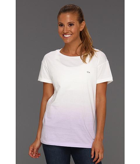 Bluze Lacoste - L!VE S/S Crewneck Dip Dye Tee - Antirrhinum Purple/White
