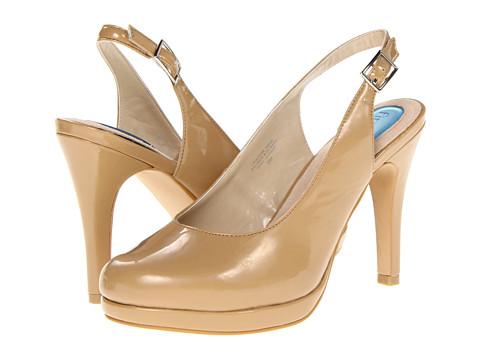 Pantofi Fitzwell - Gema Sling Back - Camel Patent PU