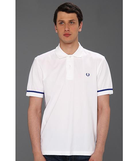 Tricouri Fred Perry - Taped Tennis Polo - White