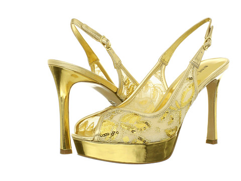 Pantofi Nine West - HellsFire - Gold/Gold Fabric