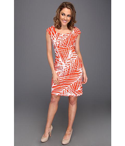 Rochii rsvp - Jinny Dress - Orange/White