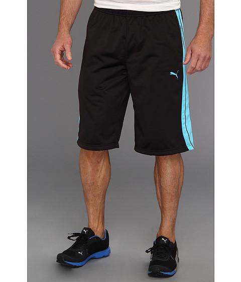 Pantaloni PUMA - Form Stripe Short - Black/Fluorescent Blue