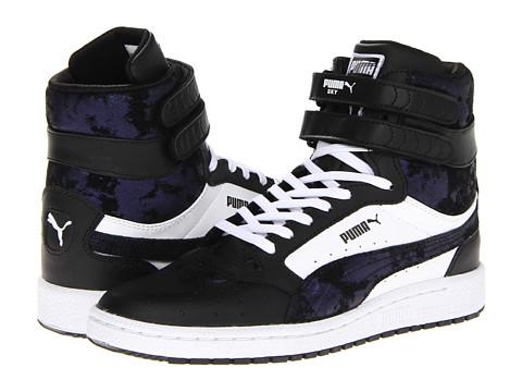 Adidasi PUMA - Sky II Hi Shimmer Wn\s - Black/White