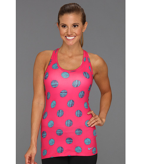 Tricouri Nike - PRT Nike Knockout SJ Tank - Pink Force/Sport Turquoise/Sport Turquoise