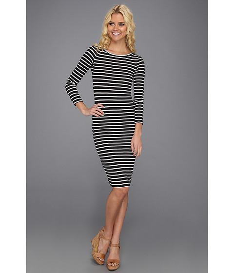 Rochii BCBGMAXAZRIA - Briza Striped Dress - Black/White Combo