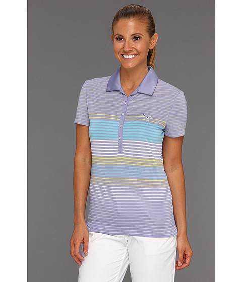 Tricouri PUMA - Yarn Dyed Stripe Polo Shirt \13 - Persian Violet
