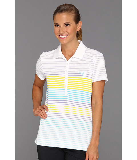 Tricouri PUMA - Yarn Dyed Stripe Polo Shirt \13 - White