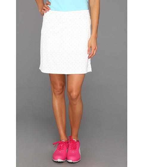 Pantaloni PUMA - Watercolor Polka Dot Skirt \13 - White/Capri