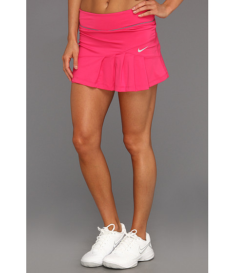 Fuste Nike - Pleated Knit Skort - Pink Force/Cool Grey/Matte Silver