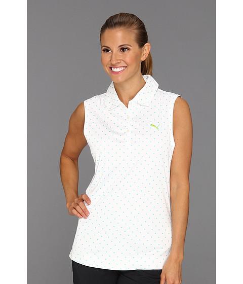 Tricouri PUMA - Sleeveless Watercolor Polka Dot Polo Shirt \13 - White