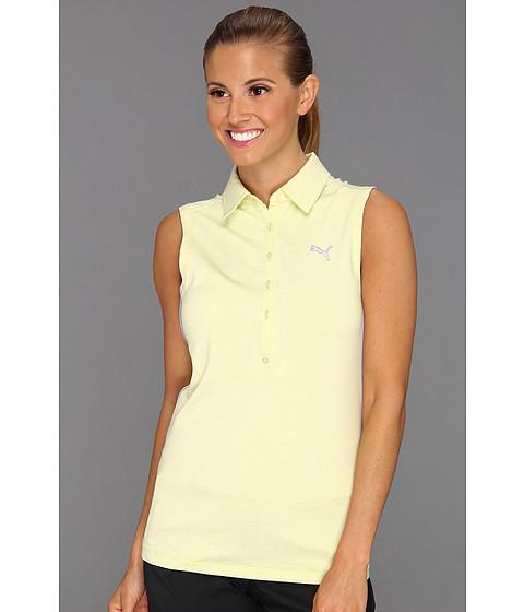Tricouri PUMA - Sleeveless Yarn-Dyed Stripe Polo Shirt \13 - Sulphur Spring