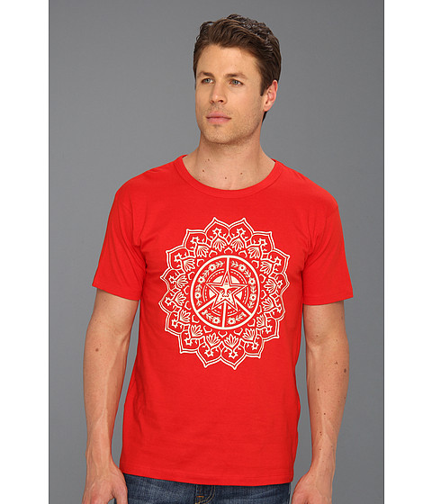 Tricouri Obey - Flower of Peace Recycle Tee - Red