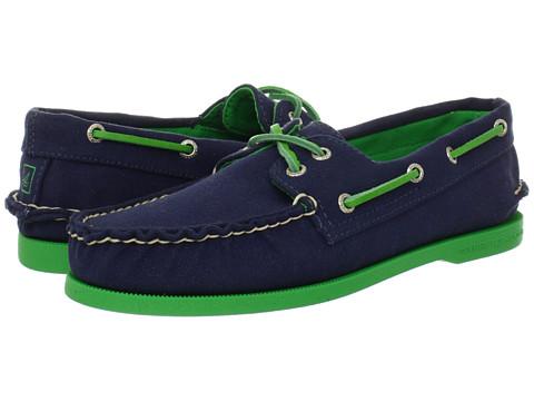 Pantofi Sperry Top-Sider - A/O 2-Eye Canvas Pop - Navy/Green