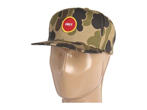 Sepci Obey - Circle Patch Snapback Hat - Bubble Camo