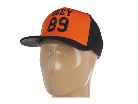 Sepci Obey - Gridiron Snapback Hat - Orange / Black