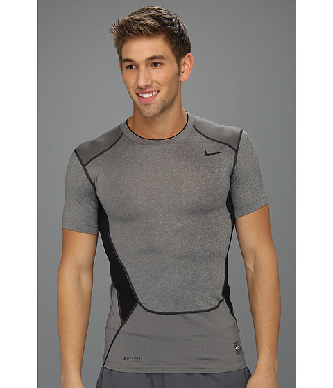 Tricouri Nike - Hypercool Compression S/S Top 2.0 - Carbon Heather/Dark Steel Grey/Black/Black
