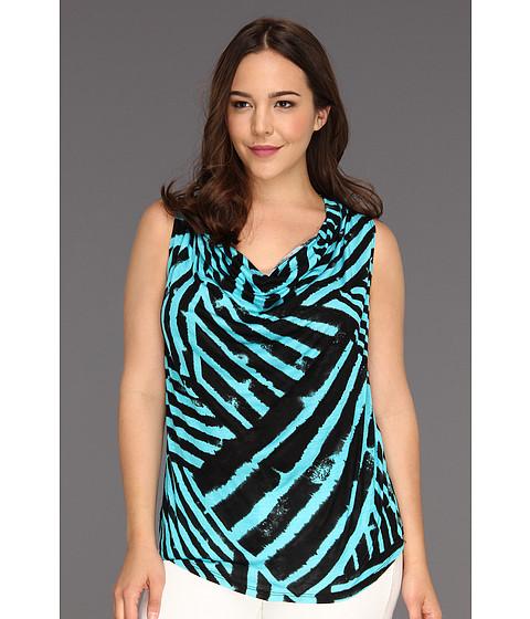 Bluze Karen Kane - Plus Size Drape Neck Sleeveless Top - Print