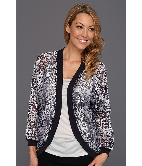 Pulovere NIC+ZOE - Glow In Light Burnout Breezy Cardy - Multi