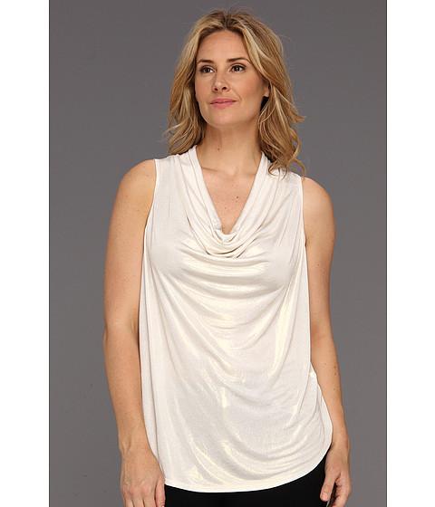 Bluze Karen Kane - Plus Size Drape Neck Top - Cream Gold