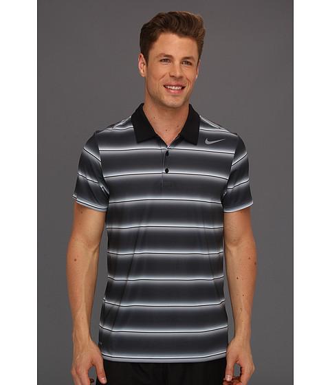 Tricouri Nike - Nike Rally Sphere Stripe S/S Polo - Black/Cool Grey