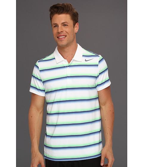 Tricouri Nike - Nike Rally Sphere Stripe S/S Polo - White/Midnight Navy/Cool Grey