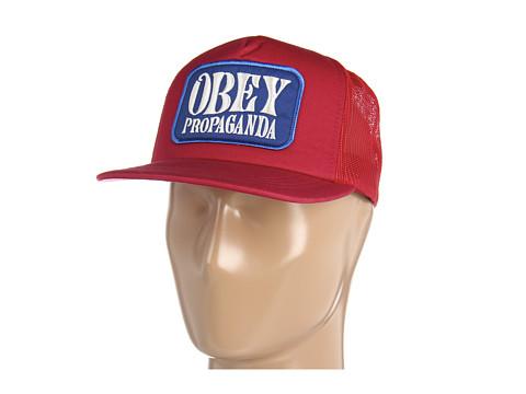 Sepci Obey - Sidewalk Surfer Trucker Hat - Mineral Red