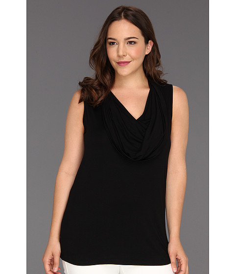 Bluze Karen Kane - Plus Size Sleeveless Cowl Neck Top - Black
