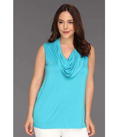 Bluze Karen Kane - Plus Size Sleeveless Cowl Neck Top - Turquoise