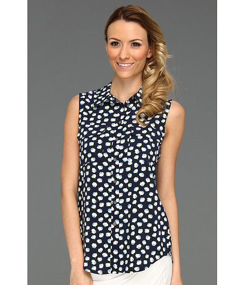 Bluze Vince Camuto - S/L Kitchy Floral Utility Shirt - New Navy