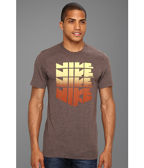 Tricouri Nike - RU Hollister Sunset Stack S/S Tee - Orewood Bright Heather
