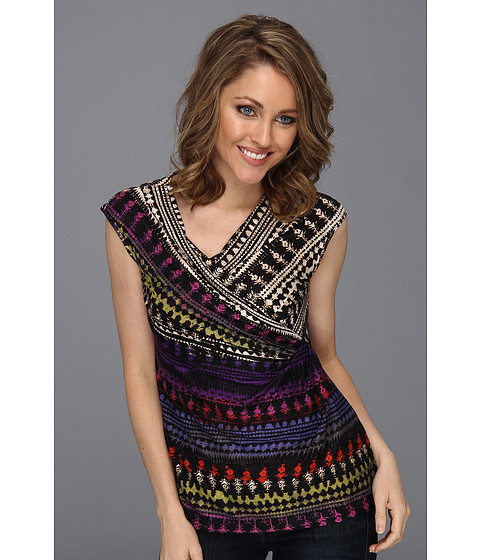 Bluze NIC+ZOE - Caliente Aztec Top - Multi