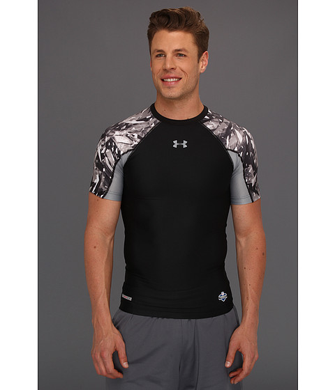 Tricouri Under Armour - NFLî Combine Authentic Compression S/S Tee - Black/Steel/Steel
