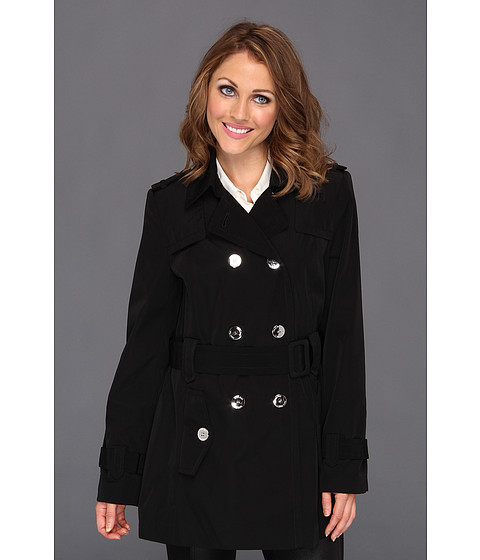 Jachete Calvin Klein - Double-Breasted Belted Trench CW342211 - Black/Grey