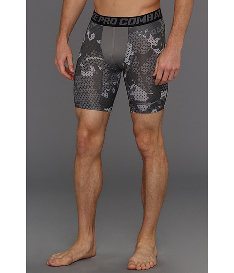 Pantaloni Nike - Core Compression Grid Camo Short - Cool Grey/Cool Grey