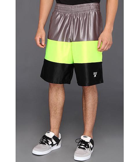Pantaloni Nike - Baller Mesh Short - Sport Grey/Volt/Black/White