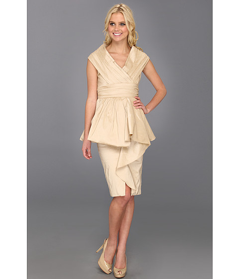 Rochii Badgley Mischka - Shoulder Wrap Dress - Nude