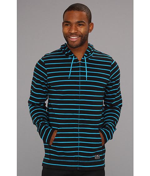 Bluze Nike - Luxe Jersey Full-Zip Hoodie - Black/Neo Turquoise