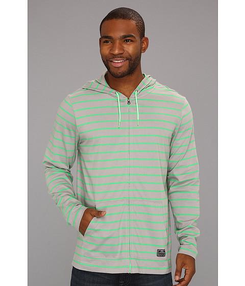 Bluze Nike - Luxe Jersey Full-Zip Hoodie - Medium Grey/Poison Green