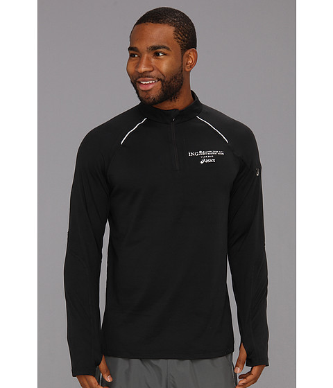 Jachete ASICS - Marathon Thermopolis Long Sleeve Half Zip - Black/Black