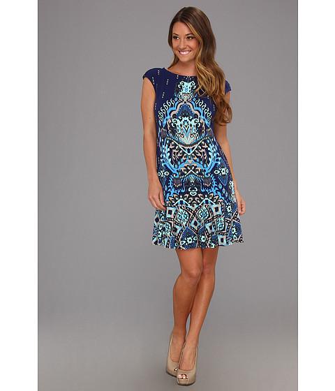 Rochii Donna Morgan - Extended Sleeve Drop Waist Dress - Navy Multi
